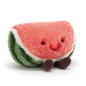 Jellycat - A6W - Peluche pastèque Amuseable - L = 7 cm x l = 15 cm x H =14 cm (413150)