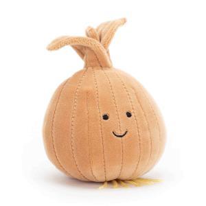 Jellycat - VV6O - Peluche oignon Vivacious Vegetable Vegetable - L = 7 cm x l = 8 cm x H =9 cm (413162)