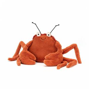 Jellycat - CC6C - Peluche crabe Crispin - L = 7 cm x l = 12 cm x H =11 cm (413186)