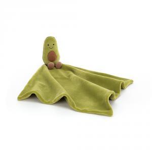 Jellycat - AS4A - Doudou plat avocat Amuseable - L = 15 cm x l = 34 cm x H =34 cm (413224)