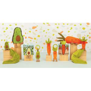 Jellycat - AS4A - Doudou plat avocat Amuseable - L = 15 cm x l = 34 cm x H =34 cm (413224)