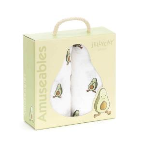 Jellycat - POM2AA - Amuseable Avocado Pair Of Muslins - 70 cm (413228)
