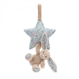 Jellycat - BAMS4BLB - Blossom Beige Bunny Musical Pull - 28 cm (413354)