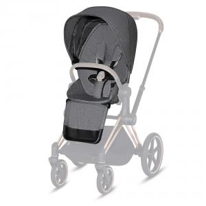 Cybex - 519004075 - Habillage de siège Priam Plus Manhattan Grey-gris (413428)