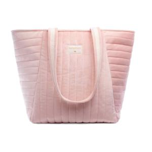 Nobodinoz - N111919 - Sac maternité Savanna velours Bloom pink (413430)
