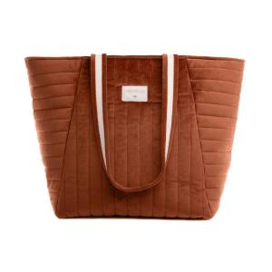 Nobodinoz - N111926 - Sac maternité Savanna velours Wild brown (413434)