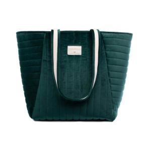 Nobodinoz - N111933 - Sac maternité Savanna velours Jungle green (413436)