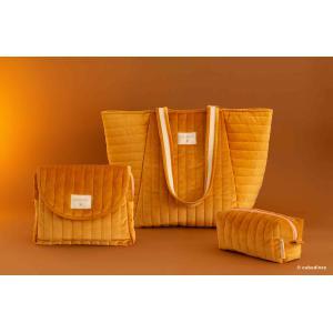 Nobodinoz - N112053 - Trousse de toilette  Savanna velours Farniente yellow (413442)