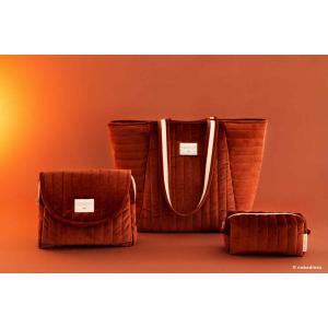 Nobodinoz - N112077 - Trousse de toilette  Savanna velours Wild brown (413444)