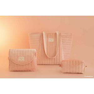 Nobodinoz - N111964 - Trousse de toilette  Savanna velours Bloom pink (413450)