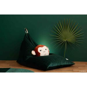 Nobodinoz - N112497 - Pouf haricot Essaouira Jungle green (413496)