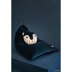 Nobodinoz - N112503 - Pouf haricot Essaouira Night blue (413498)