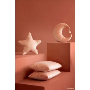 Nobodinoz - N112626 - Coussin Lune BLOOM PINK (413514)