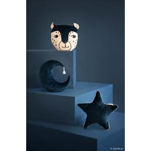 Nobodinoz - N112602 - Coussin Pierrot la Lune Night blue (413518)