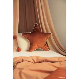 Nobodinoz - N112664 - Coussin Aristote étoile WILD BROWN (413524)