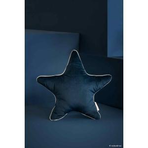 Nobodinoz - N112633 - Coussin Aristote étoile NIGHT BLUE (413528)