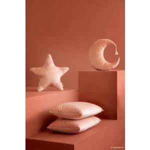 Nobodinoz - N112725 - Coussin velours Akamba Bloom pink (413540)