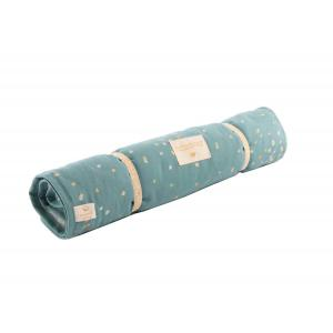 Nobodinoz - N111186 - Matelas à langer Nomad Gold confetti magic green (413552)