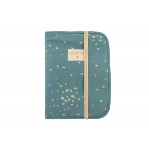 Nobodinoz - N111247 - Protège carnet de santé Poème Gold confetti magic green (413560)