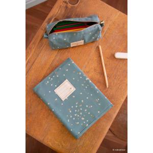 Nobodinoz - N111575 - Protège cahier de texte Too Cool Gold confetti magic green (413562)