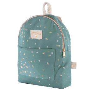 Nobodinoz - N111599 - Sac à dos mini Too Cool Gold confetti magic green (413568)