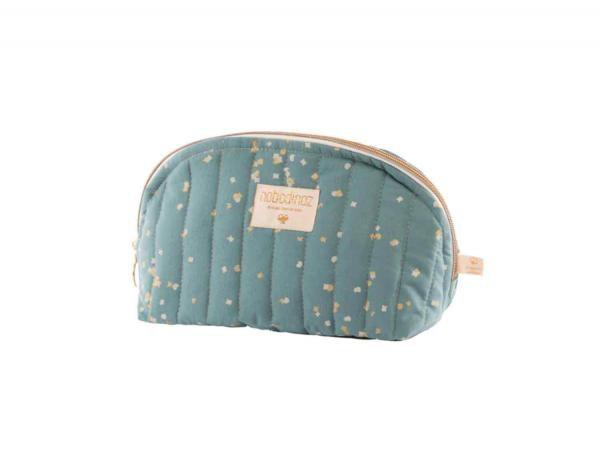 Trousse de toilette holiday large gold confetti magic green