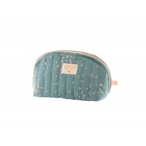 Nobodinoz - N111285 - Trousse de toilette Holiday small Gold confetti magic green (413576)