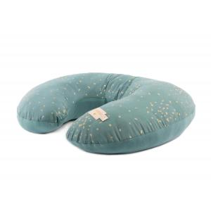 Nobodinoz - N111308 - Coussin d'allaitement Sunrise Gold confetti magic green (413582)