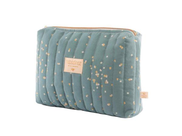 Trousse de toilette travel gold confetti magic green