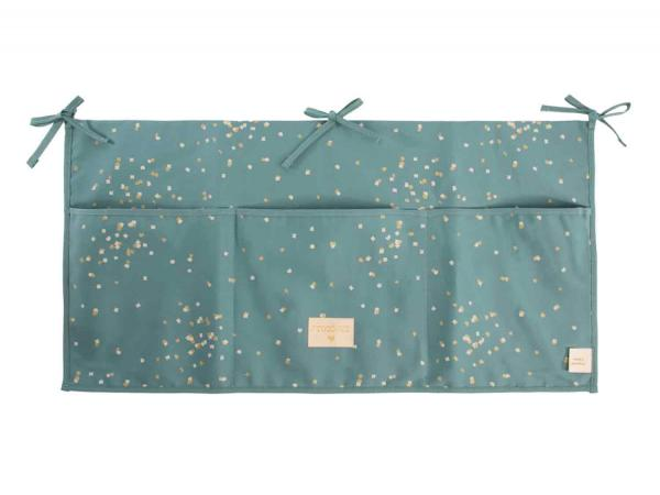 Poches de rangement merlin gold confetti magic green