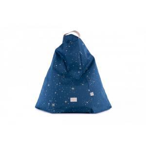 Nobodinoz - N110837 - Pouf Marrakech GOLD STELLA/ NIGHT BLUE (413606)