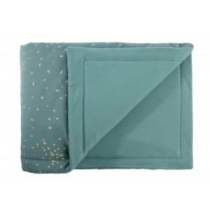 Nobodinoz - N111384 - Couverture Laponia bébé Gold confetti magic green (413614)