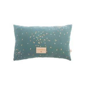 Nobodinoz - N111414 - Coussin Laurel Gold confetti magic green (413620)