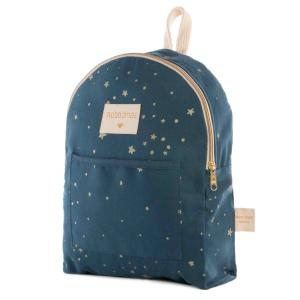 Nobodinoz - N111001 - Petit sac à dos Too Cool Gold stella/ night blue (413650)