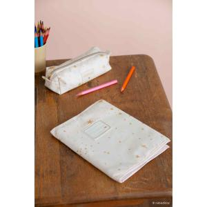 Nobodinoz - N111032 - Protège-cahier de textes Too Cool Gold stella/ dream pink (413660)