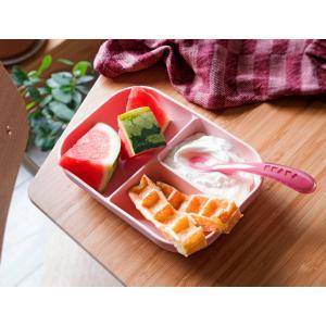Beaba - 913456 - Set repas silicone 2 pièces compartimenté - pink (413730)