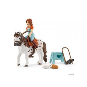 Schleich - bu071 - Set de schleich chevaux (mia & spotty, équestre rocky mountain) (414004)