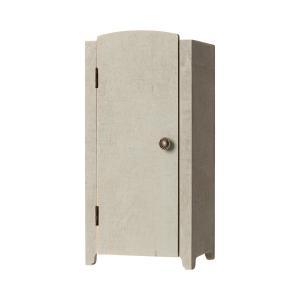 Maileg - 11-9001-00 - Vintage closet w. shelves, Mini - Mint/Grey - Taille 22 cm - à partir de 36 mois (414378)