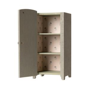 Maileg - 11-9001-00 - Vintage closet w. shelves, Mini - Mint/Grey - Taille : 22 cm (414378)