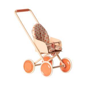 Maileg - 11-9110-02 - Stroller, Micro - Soft coral - Taille 12 cm - à partir de 36 mois (414400)
