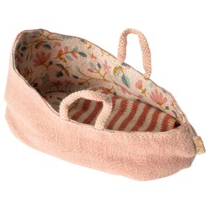 Maileg - 11-9403-00 - Carry cot, My - Misty rose - Taille : 6 cm (414418)