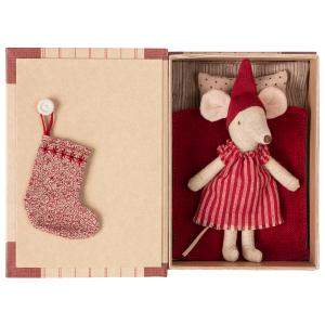 Maileg - 14-9720-01 - Christmas mouse in book - Big sister  - Taille : 17 cm (414578)