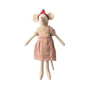 Maileg - 14-9730-00 - Christmas mouse, medium - Girl - Taille : 37 cm (414582)