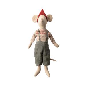 Maileg - 14-9731-00 - Christmas mouse, medium - Boy  - Taille : 37 cm (414586)