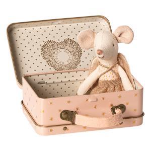 Maileg - 16-9722-01 - Guardian angel in suitcase, Little sister mouse - Taille 10 cm - de 0 à 36 mois (414714)