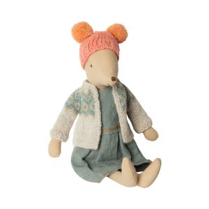 Maileg - 16-9782-00 - Winter mouse, medium - Girl  - Taille : 31 cm (414724)