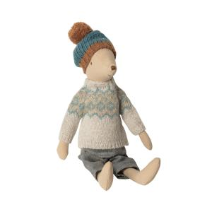 Maileg - 16-9783-00 - Winter mouse, medium - Boy  - Taille : 31 cm (414726)