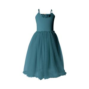 Maileg - 21-9201-01 - Ballerina dress, 4-6 years - Petrol - Taille : 65 cm (414800)