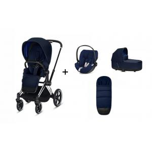 Cybex - BU231 - Poussette Priam et siège-auto Cloud Z Midnight blue (415336)