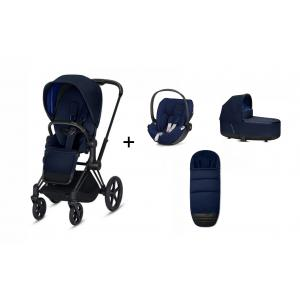 Cybex - BU235 - Poussette Priam et siège-auto Cloud Z Midnight blue (415344)